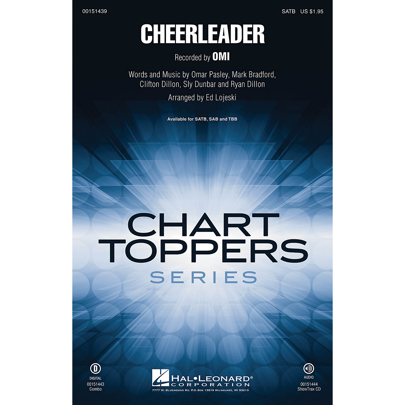 Hal Leonard Cheerleader SATB by Omi arranged by Ed Lojeski thumbnail