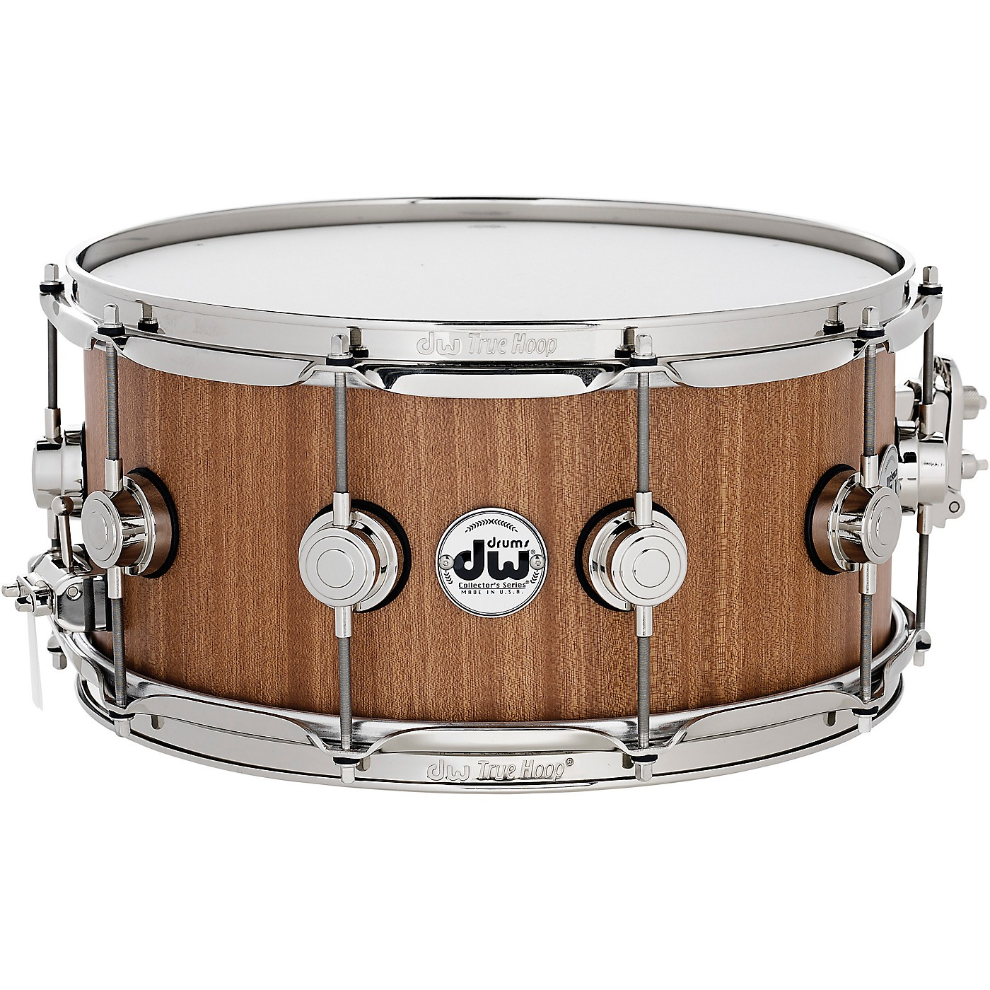 DW Cherry Mahogany Natural Lacquer with Nickel Hardware Snare Drum 14 x 6.5 in. thumbnail