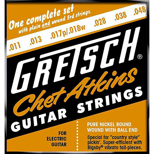 Fender Chet Atkins Pure Nickel 11-48 Electric Guitar Strings thumbnail