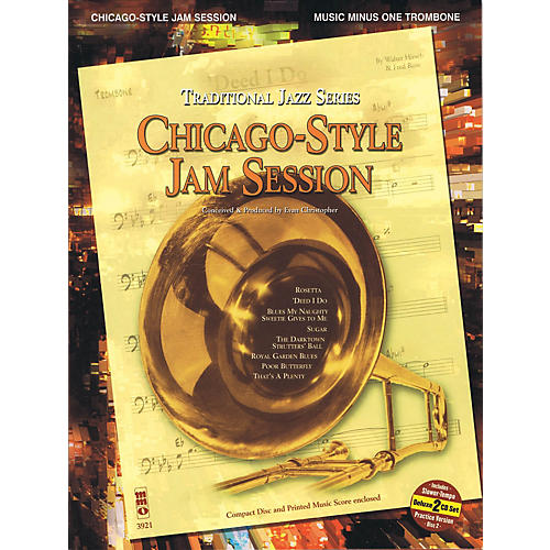 Music Minus One Chicago-Style Jam Session - Traditional Jazz Series Music Minus One Series Softcover with CD thumbnail