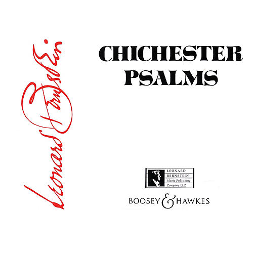 Boosey and Hawkes Chichester Psalms Boosey & Hawkes Scores/Books Series Softcover Composed by Leonard Bernstein thumbnail