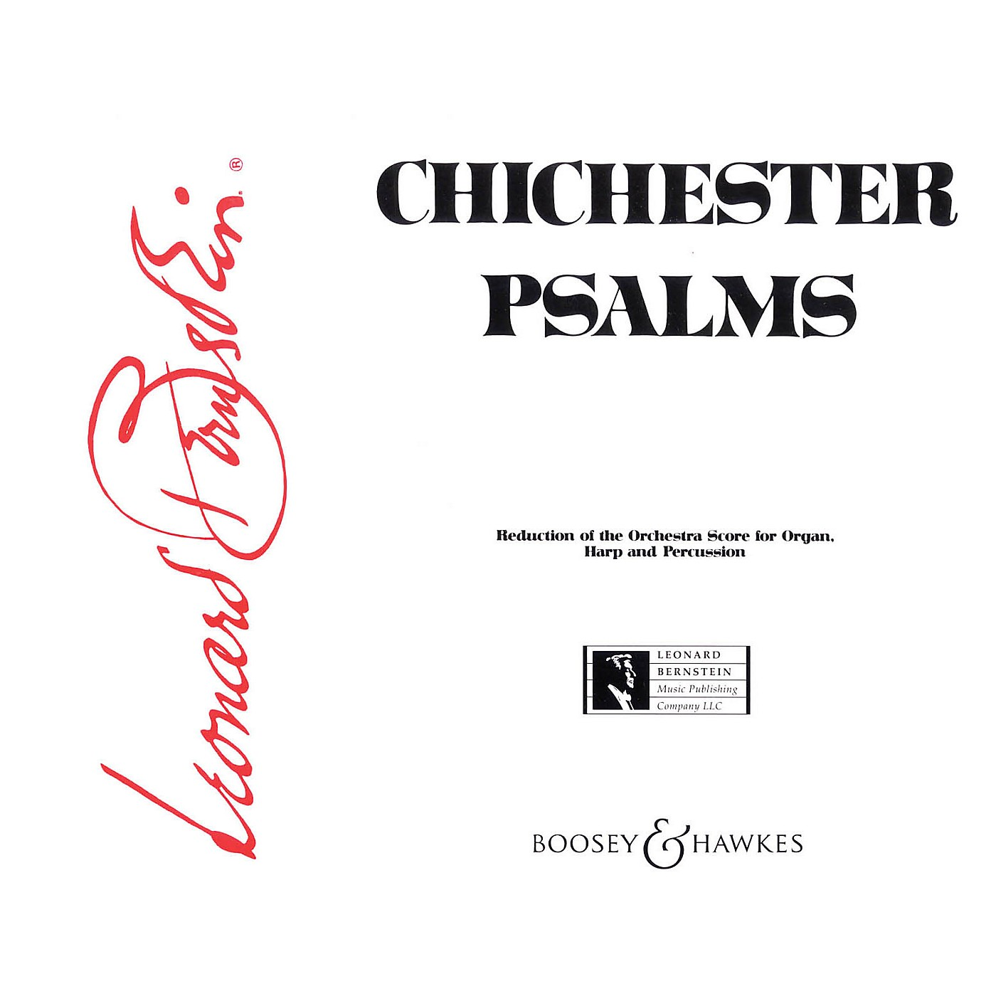 Boosey and Hawkes Chichester Psalms (Reduced Orchestration Parts) Parts composed by Leonard Bernstein thumbnail