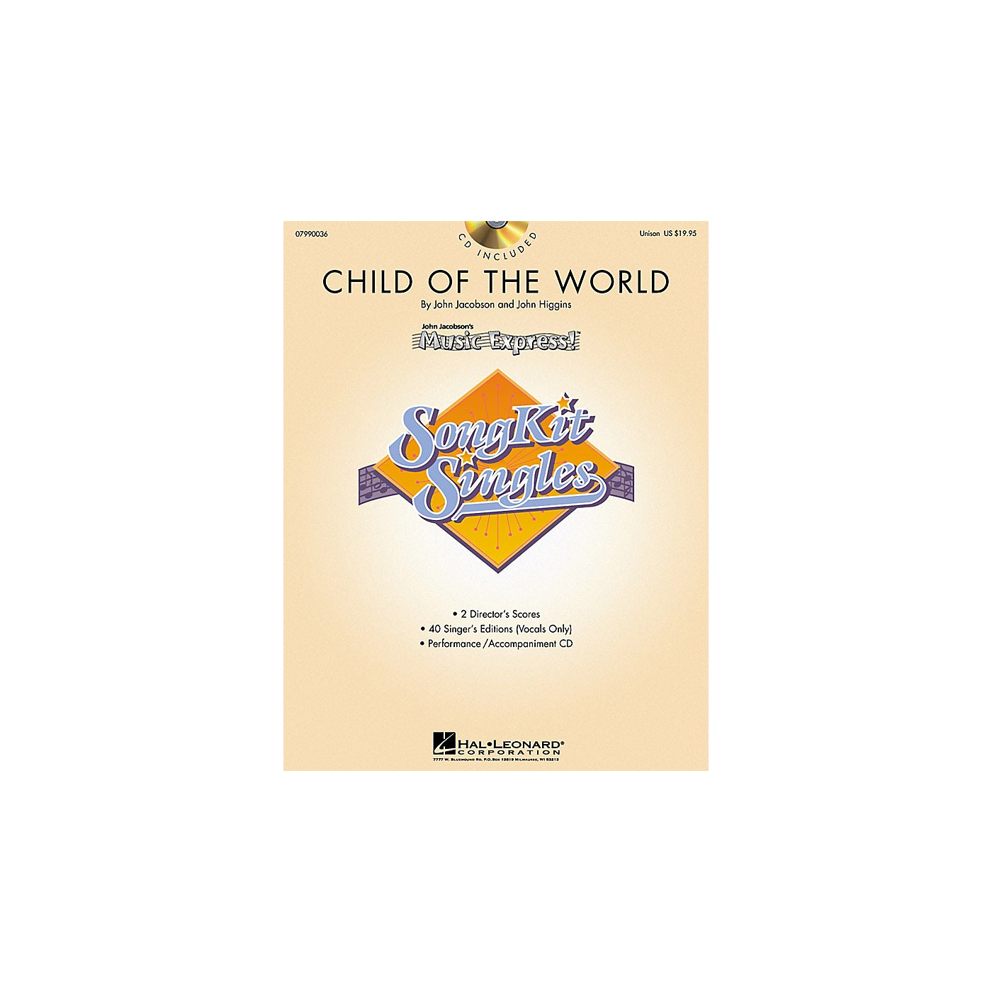 Hal Leonard Child of the World (SongKit Single) (Unison) UNIS Composed by John Higgins thumbnail