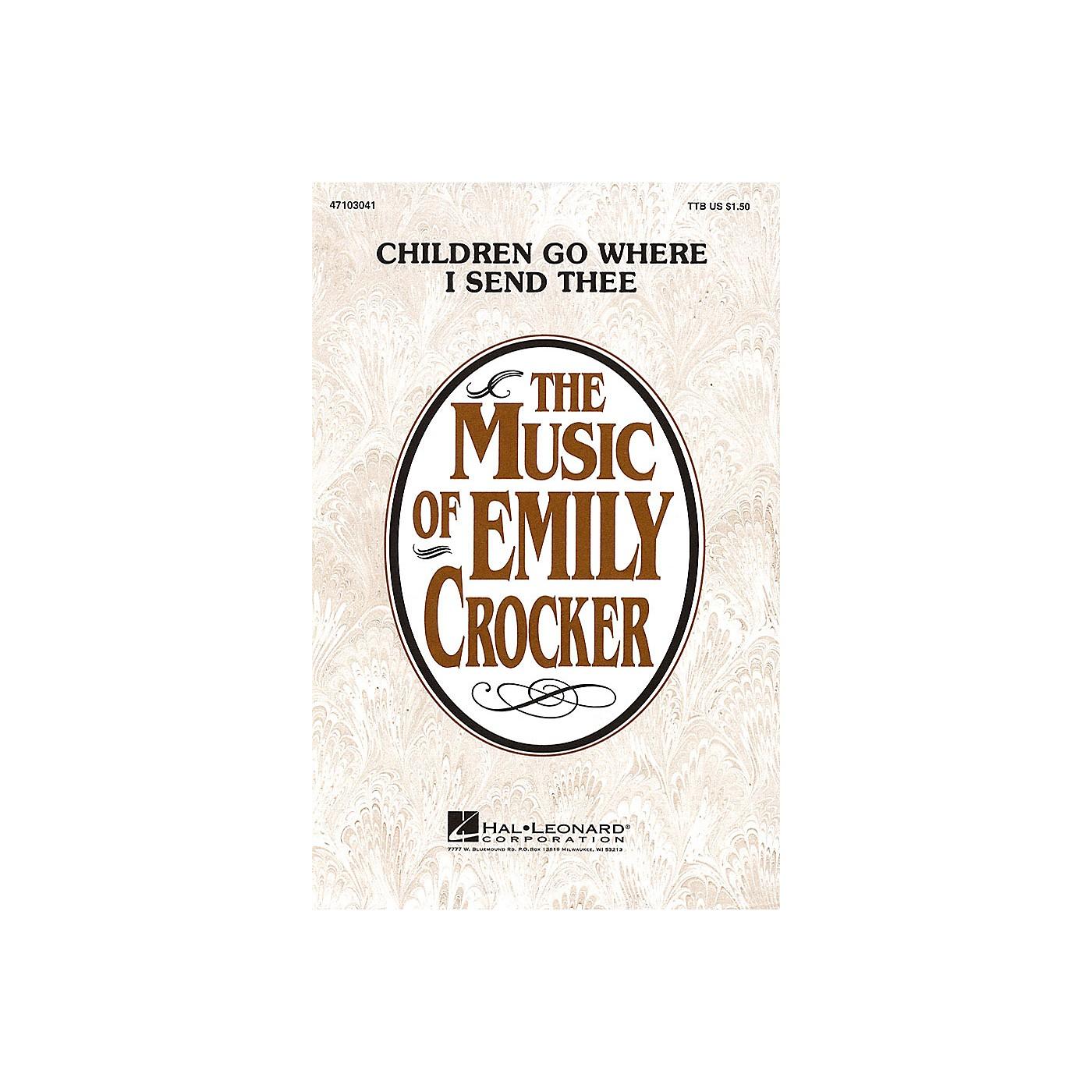 Hal Leonard Children Go Where I Send Thee TTB arranged by Emily Crocker thumbnail