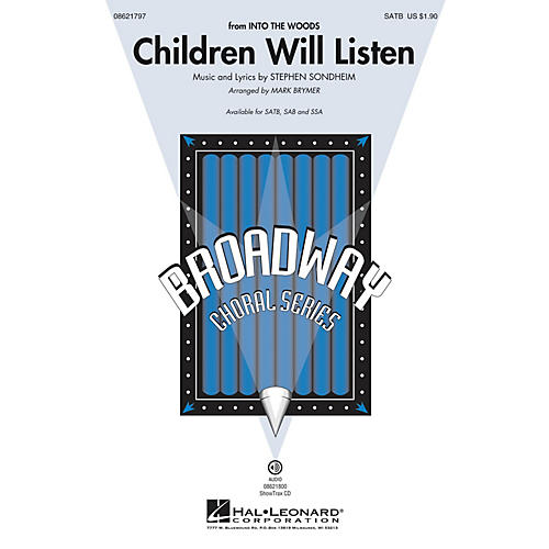 Hal Leonard Children Will Listen (from Into the Woods) ShowTrax CD Arranged by Mark Brymer thumbnail
