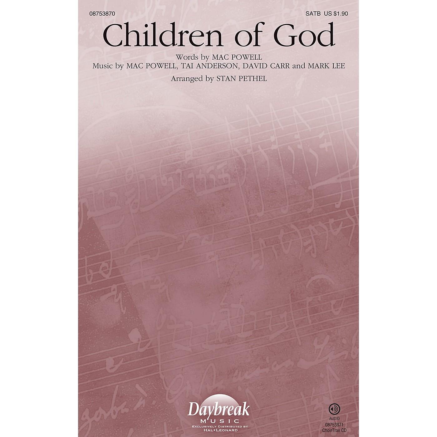 Daybreak Music Children of God SATB/CHILDREN'S CHOIR arranged by Stan Pethel thumbnail