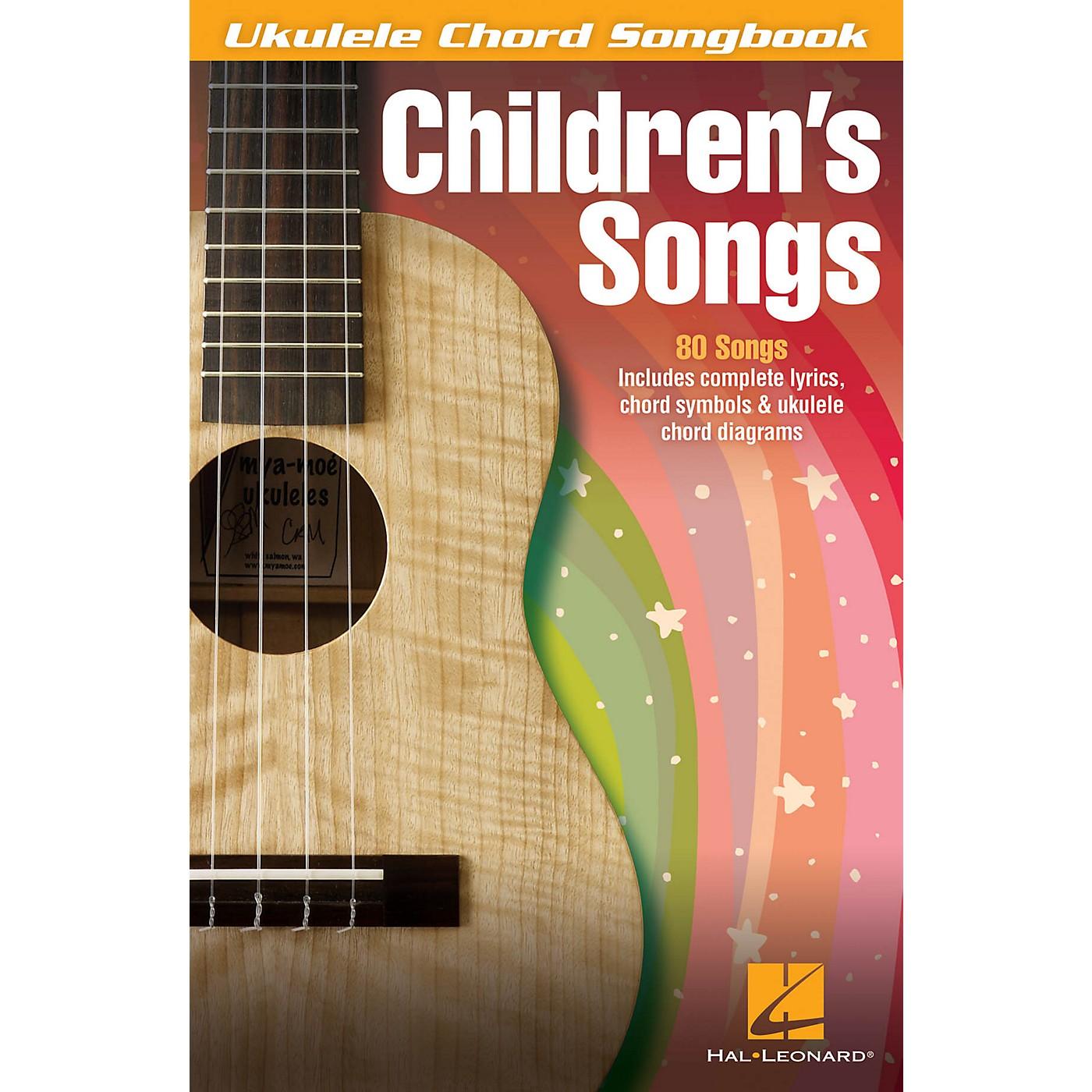 Hal Leonard Children's Songs Ukulele Chord Songbook thumbnail