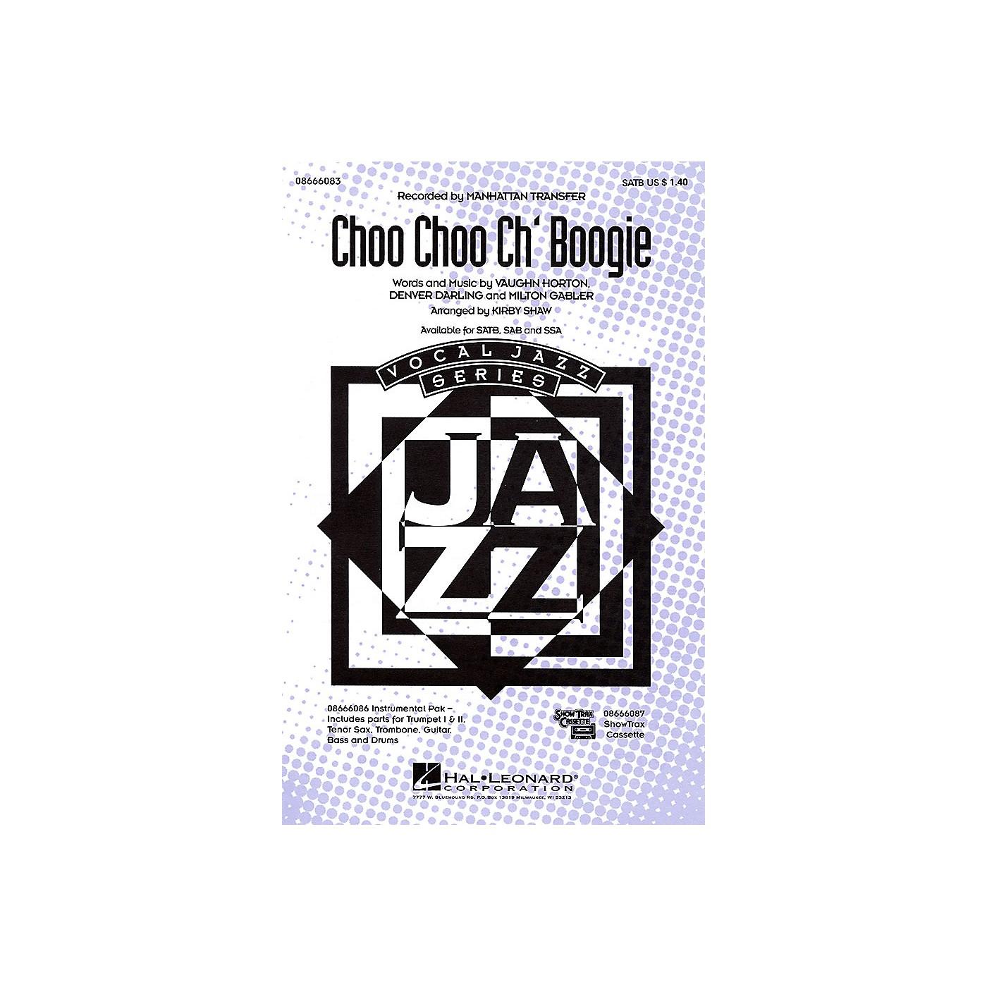 Hal Leonard Choo Choo Ch'Boogie SSA by The Manhattan Transfer Arranged by Kirby Shaw thumbnail