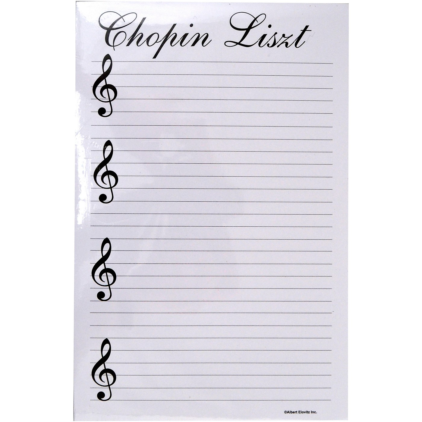 AIM Chopin Liszt Notepad thumbnail