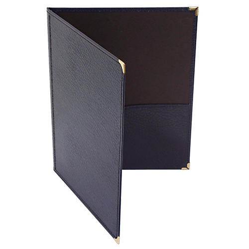 Deer River Choral Leatherette Folio With Bottom Pockets-thumbnail