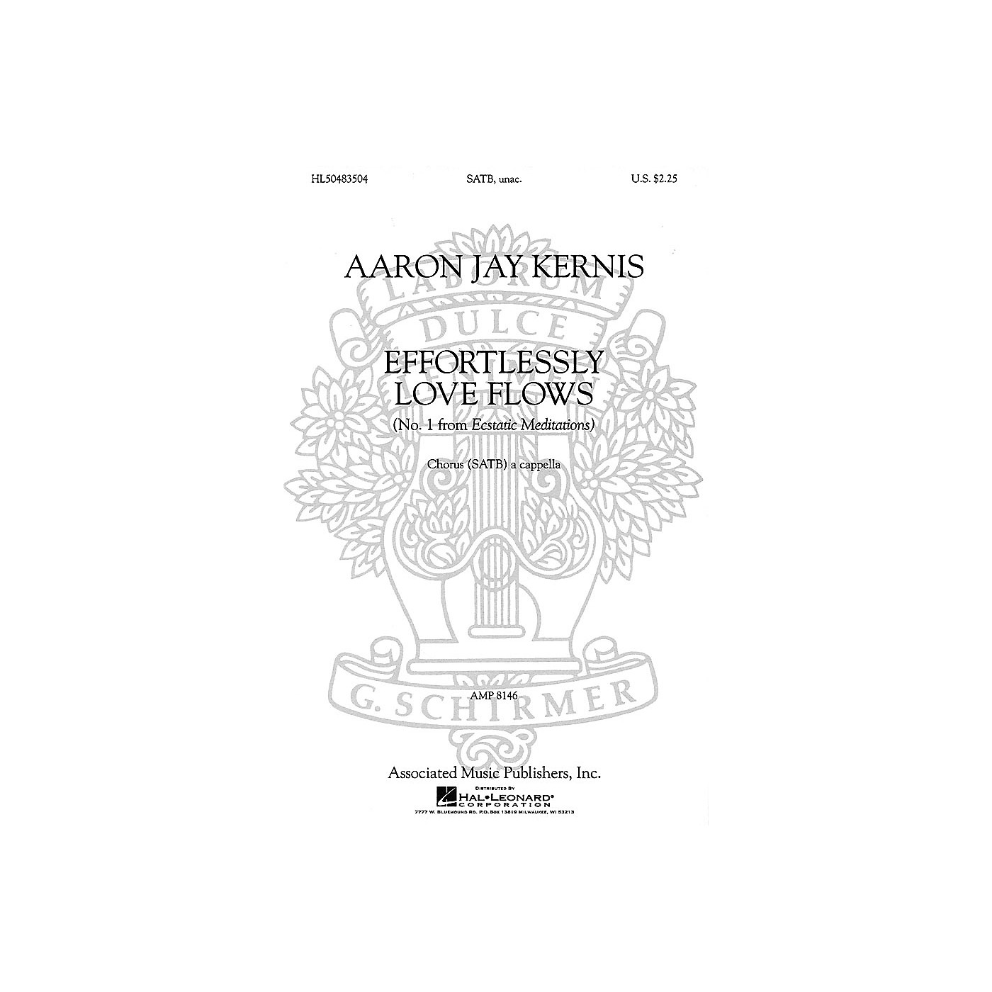 Associated Choral Movements from Ecstatic Meditations (No. 1 - Effortlessly Love Flows) SATB by Aaron Jay Kernis thumbnail