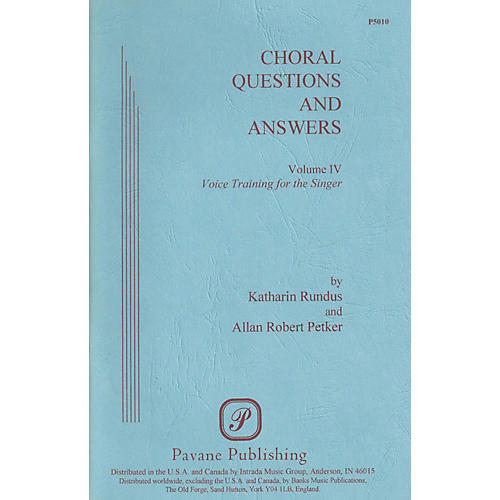 Pavane Choral Questions & Answers IV: Voice Training for the Singer Book thumbnail