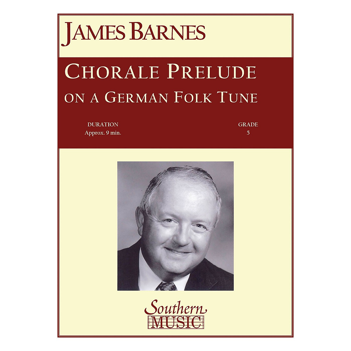Southern Chorale Prelude on A German Folk Tune Concert Band Level 5 Composed by James Barnes thumbnail