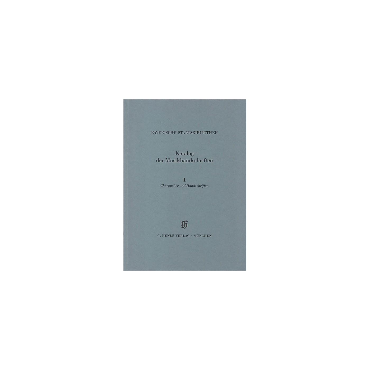 G. Henle Verlag Chorbücher und Handschriften in chorbuchartiger Notierung Henle Books Series Softcover thumbnail
