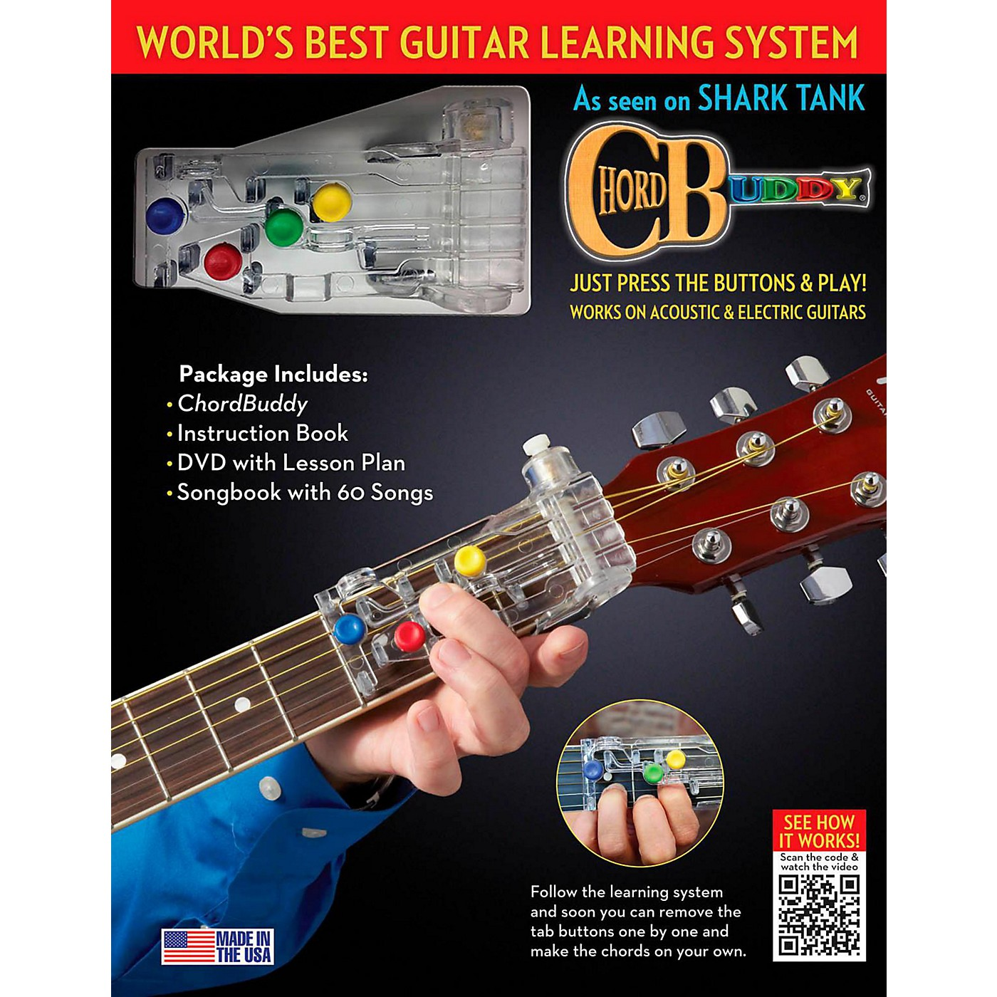 Hal Leonard ChordBuddy Learning System Revised Edition - Includes Color-Coded Songbook and Updated DVD thumbnail