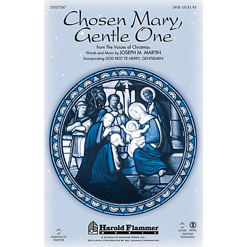 Shawnee Press Chosen Mary, Gentle One (from The Voices Of Christmas) ORCHESTRATION ON CD-ROM by Joseph M. Martin thumbnail