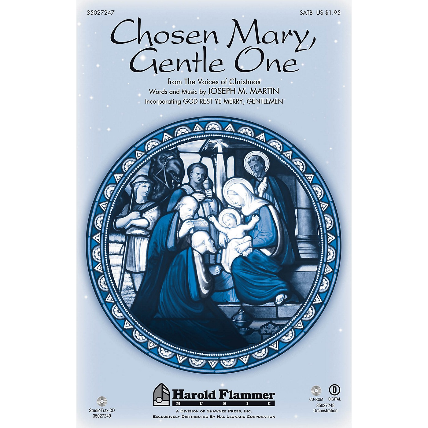 Shawnee Press Chosen Mary, Gentle One (from The Voices Of Christmas) Studiotrax CD Composed by Joseph M. Martin thumbnail