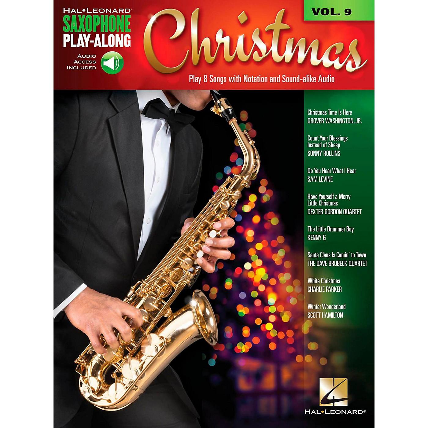 Hal Leonard Christmas - Saxophone Play-Along Vol. 9 (Book/Audio On-line) thumbnail