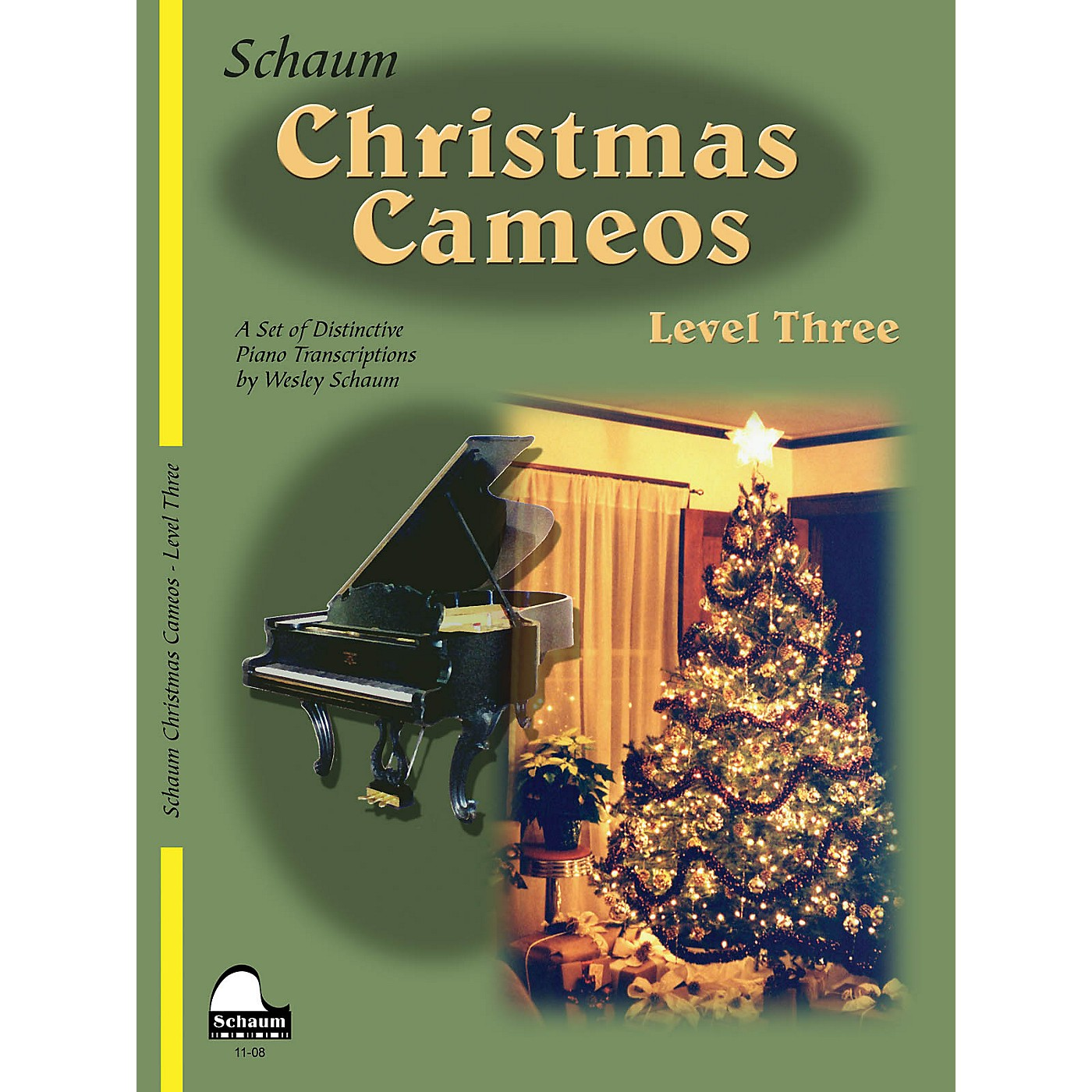 SCHAUM Christmas Cameos (Level 3 Early Inter Level) Educational Piano Book thumbnail