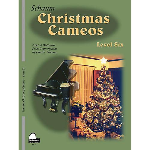 SCHAUM Christmas Cameos (Level 6 Early Advanced Level) Educational Piano Book thumbnail