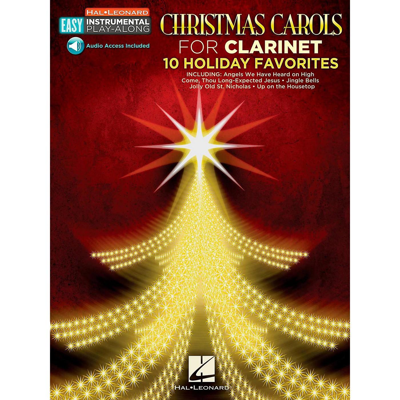 Hal Leonard Christmas Carols - Clarinet - Easy Instrumental Play-Along (Audio Online) thumbnail