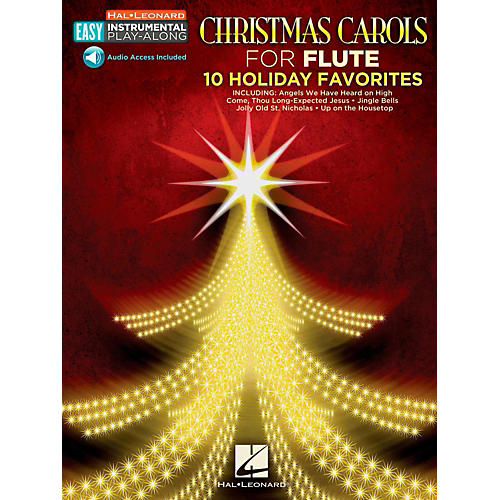 Hal Leonard Christmas Carols - Flute - Easy Instrumental Play-Along (Audio Online) thumbnail