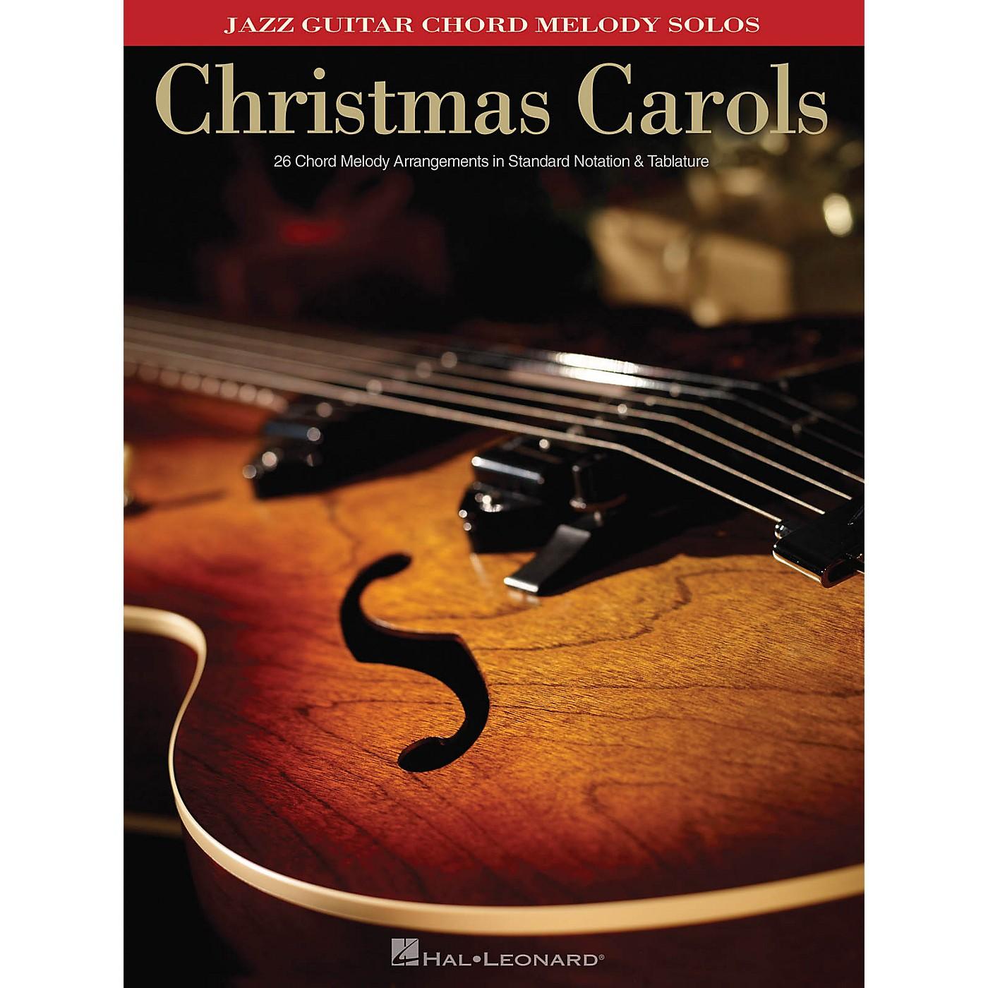 Hal Leonard Christmas Carols (Jazz Guitar Chord Melody Solos) Guitar Solo Series Softcover thumbnail