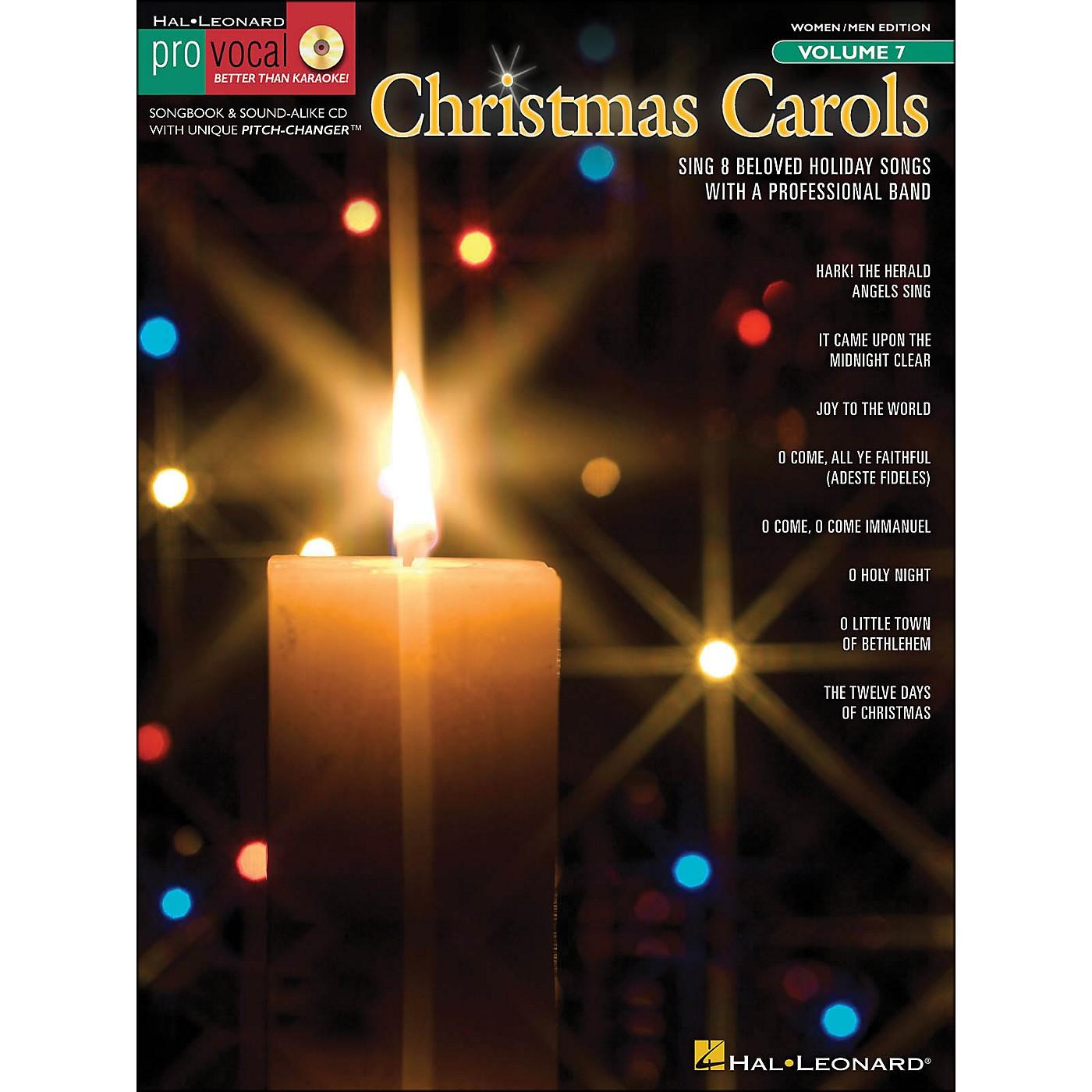 Hal Leonard Christmas Carols Pro Vocal Songbook for Women/Men Volume 7 Book/CD thumbnail