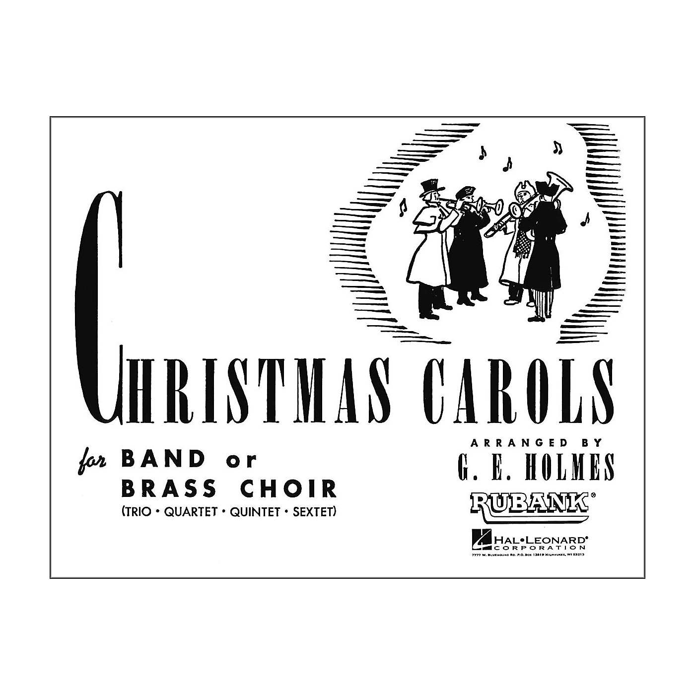 Hal Leonard Christmas Carols for Band Or Brass Choir Baritone BC Or 3rd Trombone thumbnail