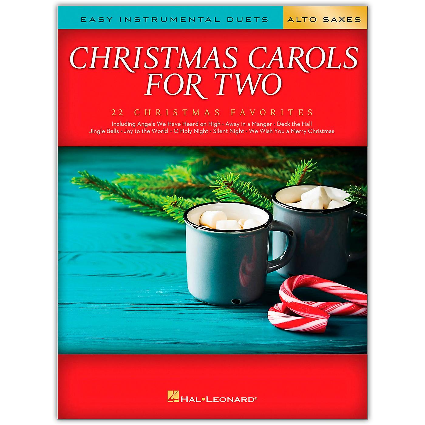 Hal Leonard Christmas Carols for Two Alto Saxes (Easy Instrumental Duets) Songbook thumbnail