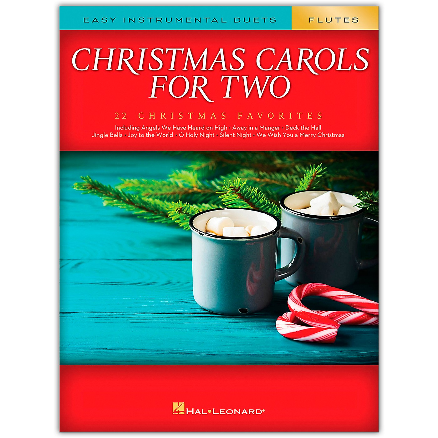 Hal Leonard Christmas Carols for Two Flutes (Easy Instrumental Duets) Songbook thumbnail