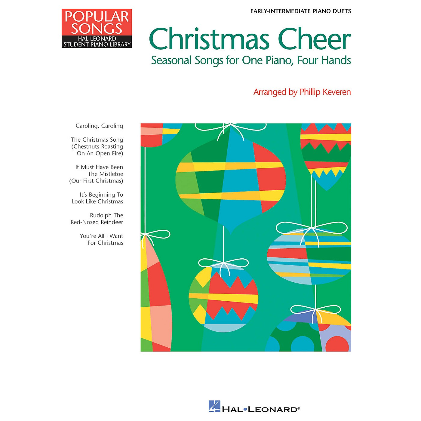 Hal Leonard Christmas Cheer (Popular Songs Series 1 Piano, 4 Hands) Piano Library Series Book (Level Early Inter) thumbnail