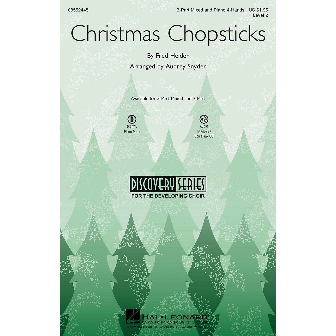 Hal Leonard Christmas Chopsticks (Discovery Level 2) 2-Part Arranged by Audrey Snyder thumbnail