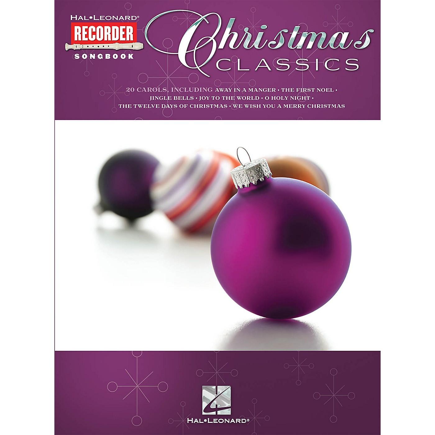 Hal Leonard Christmas Classics (Hal Leonard Recorder Songbook) Recorder Series Softcover thumbnail