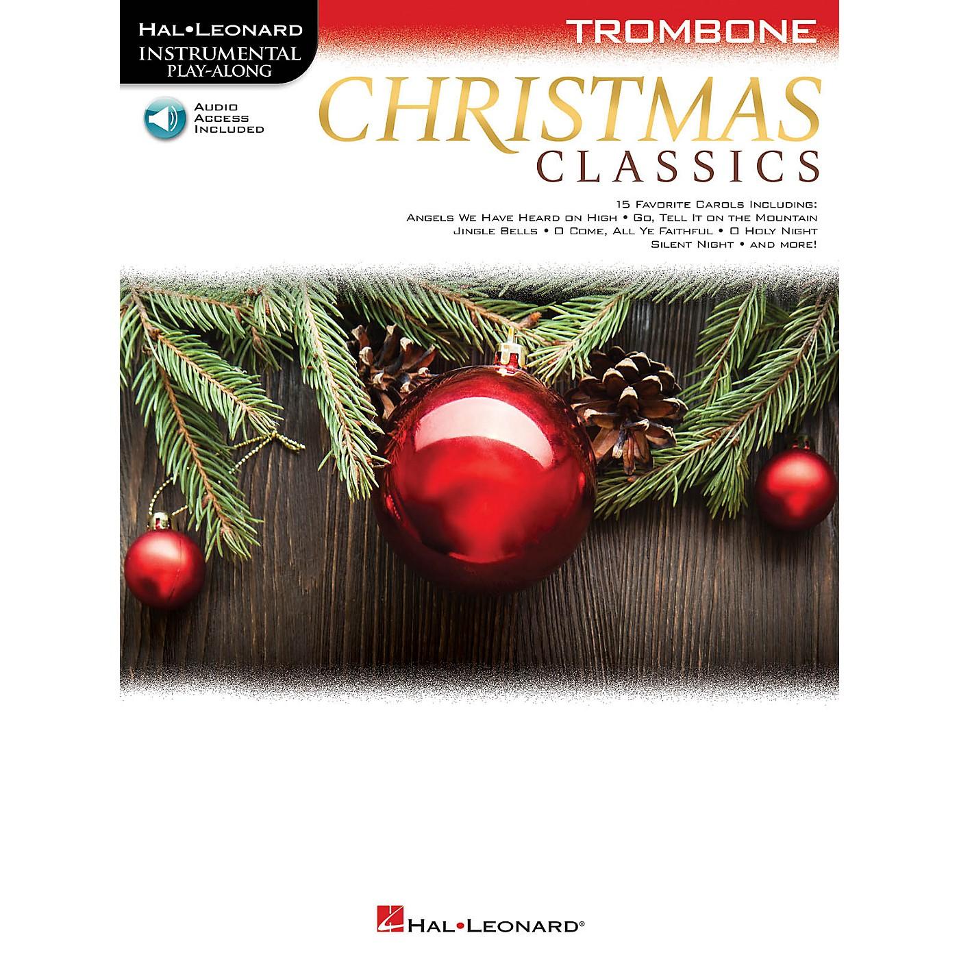 Hal Leonard Christmas Classics (Trombone) Instrumental Play-Along Series Softcover Audio Online thumbnail
