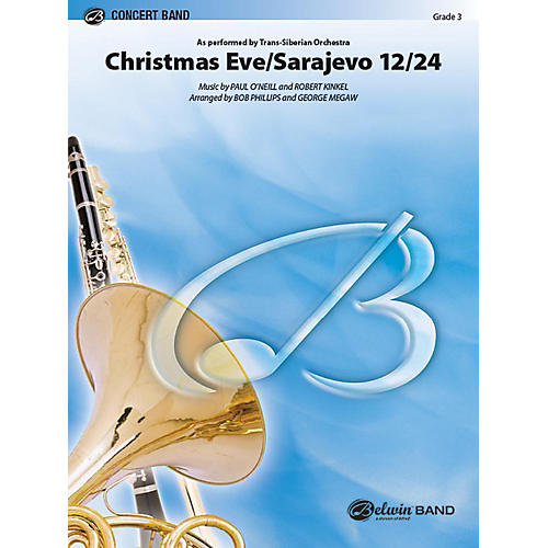 Alfred Christmas Eve/Sarajevo 12/24 Concert Band Grade 3 Set thumbnail
