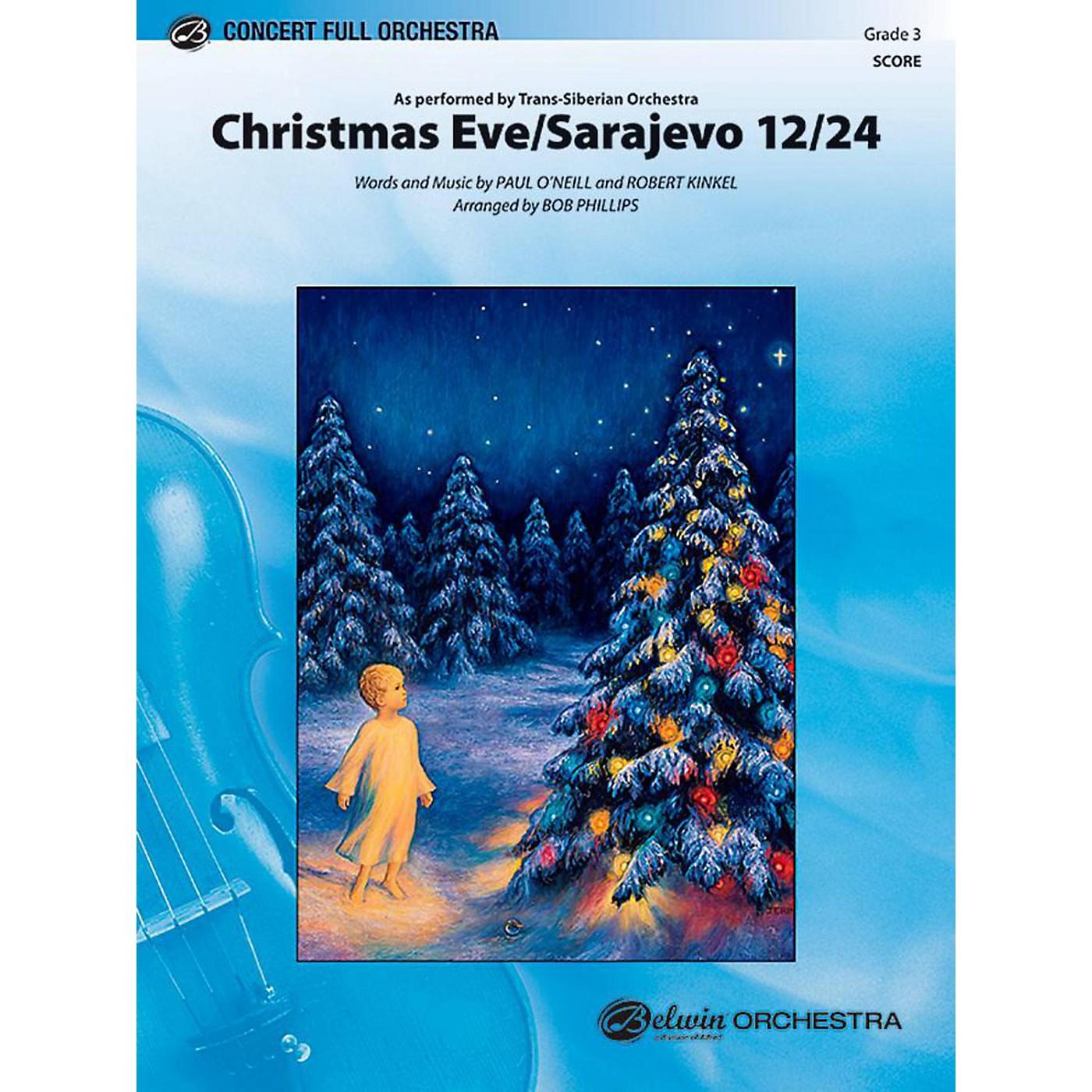 Alfred Christmas Eve/Sarajevo 12/24 Full Orchestra Level 3 Set thumbnail