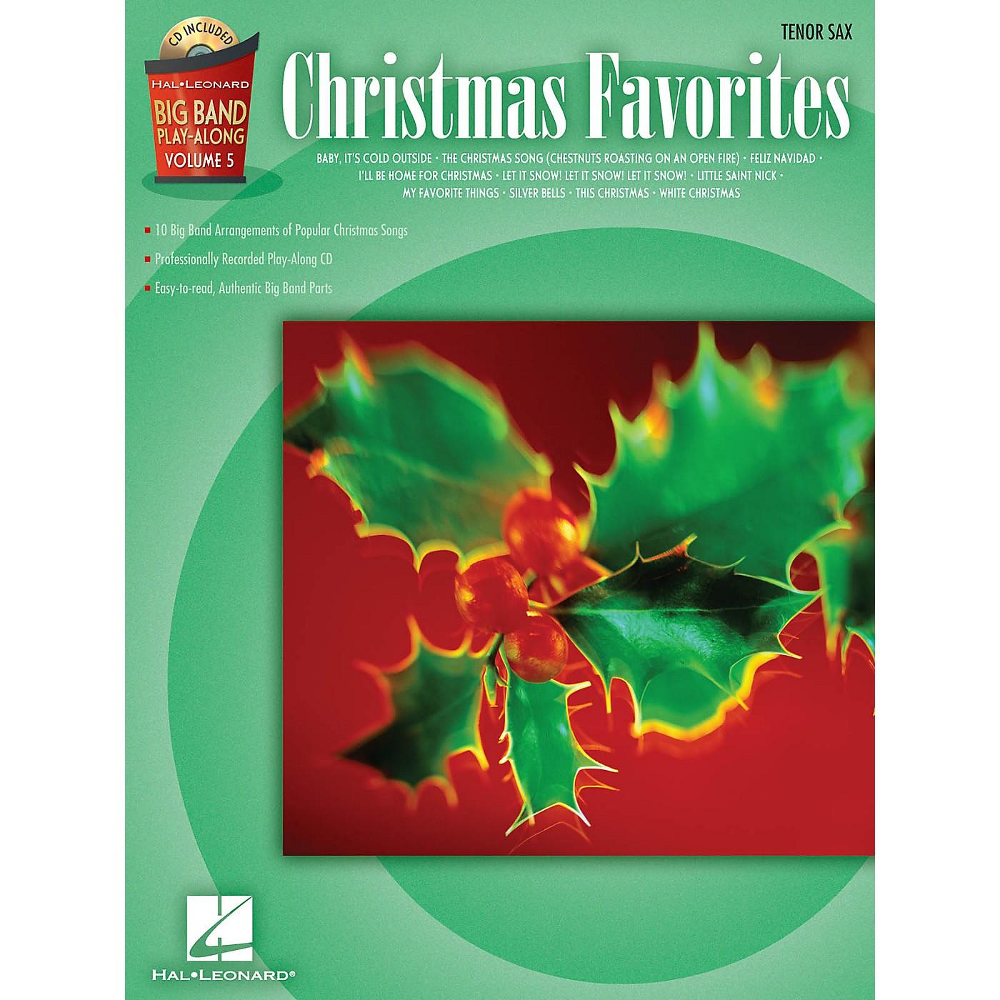 Hal Leonard Christmas Favorites - Tenor Sax Big Band Play-Along Series Book with CD thumbnail