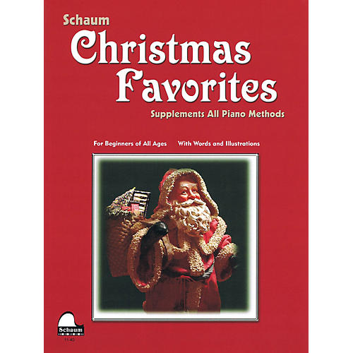 SCHAUM Christmas Favorites (Primer Level Early Elem Level) Educational Piano Book thumbnail