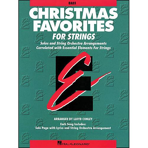 Hal Leonard Christmas Favorites String Bass Essential Elements thumbnail