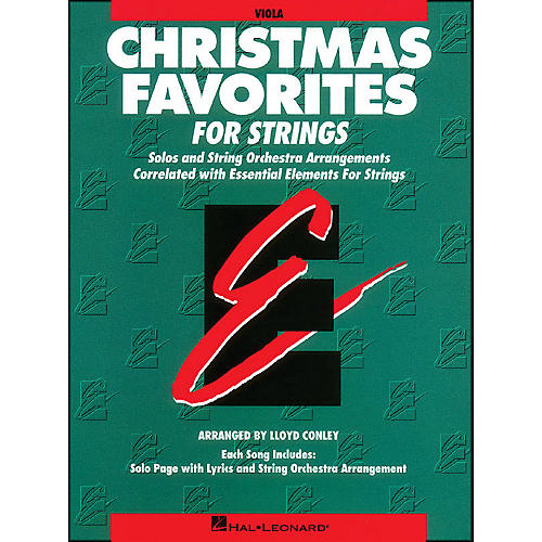 Hal Leonard Christmas Favorites Viola Essential Elements thumbnail