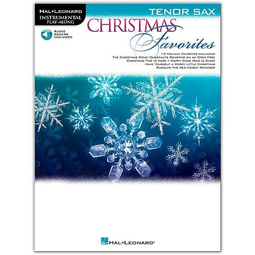 Hal Leonard Christmas Favorites for Tenor Sax - Instrumental Play Along Book/Audio Online thumbnail