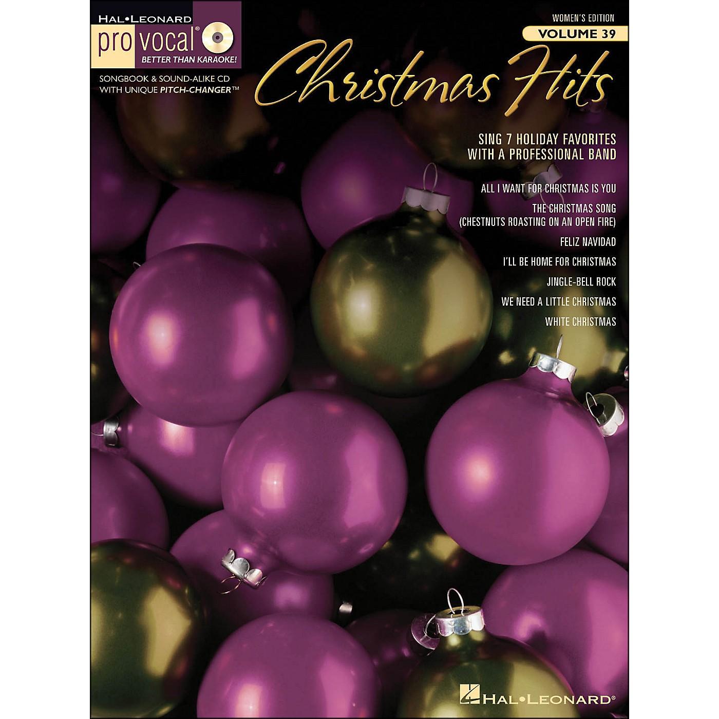 Hal Leonard Christmas Hits - Pro Vocal Songbook & CD for Female Singers Volume 39 thumbnail