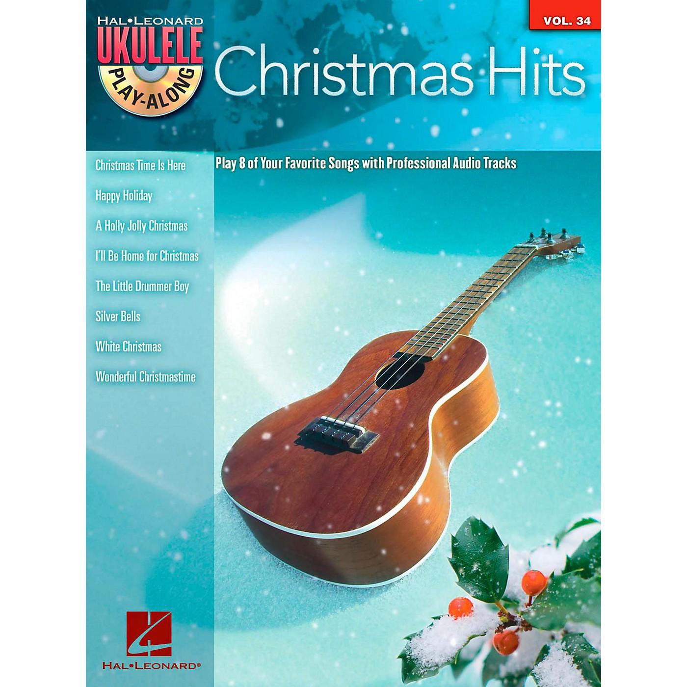 Hal Leonard Christmas Hits - Ukulele Play-Along Series Vol. 34 Book/CD thumbnail