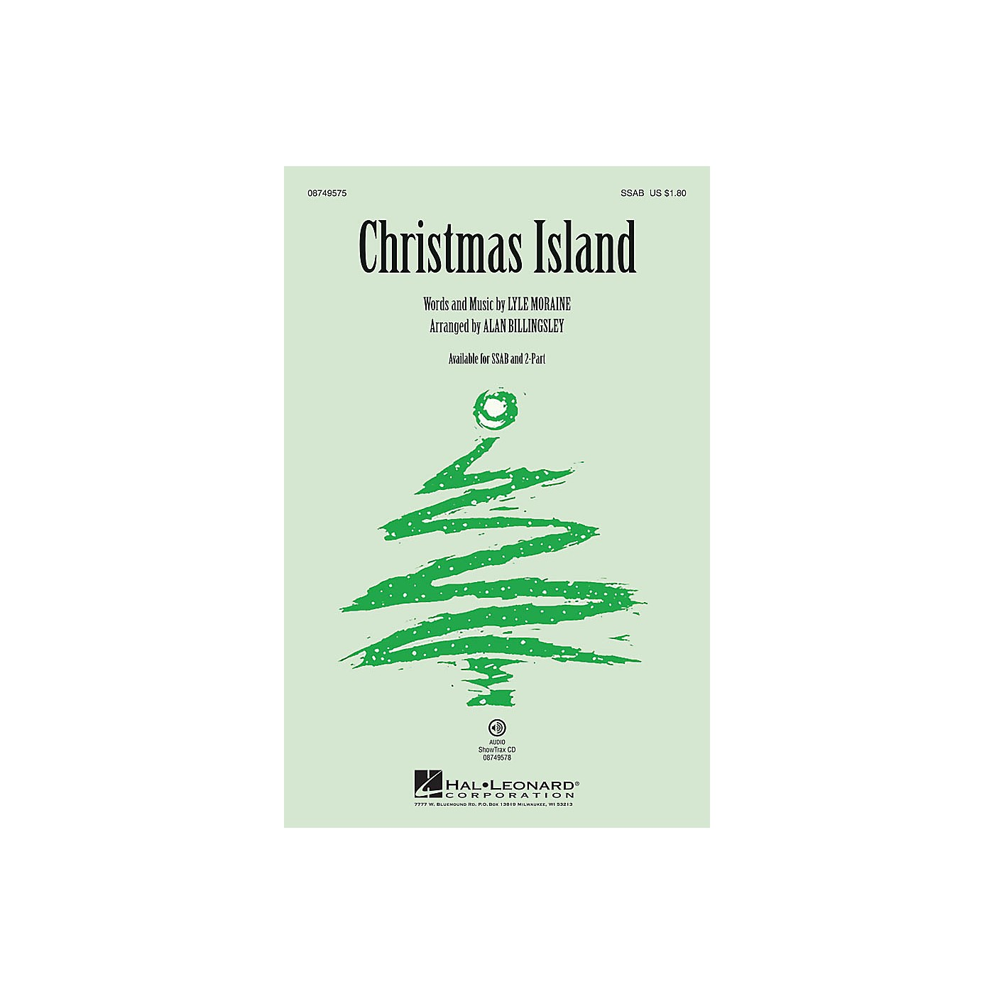 Hal Leonard Christmas Island SSAB by Brian Setzer arranged by Alan Billingsley thumbnail