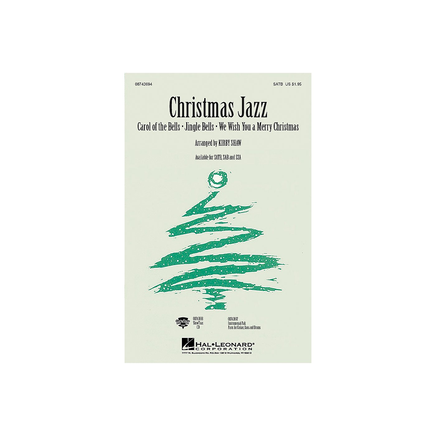 Hal Leonard Christmas Jazz (Collection) ShowTrax CD Arranged by Kirby Shaw thumbnail