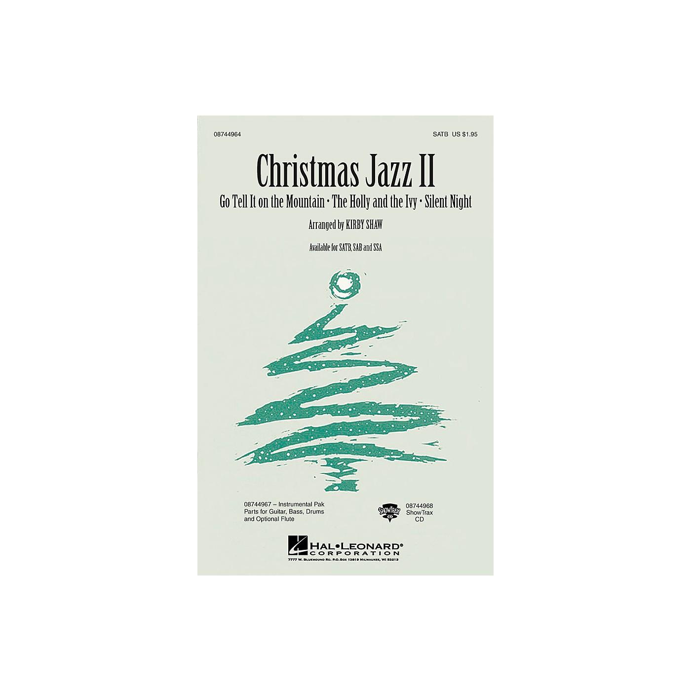 Hal Leonard Christmas Jazz II (Collection) SAB Arranged by Kirby Shaw thumbnail