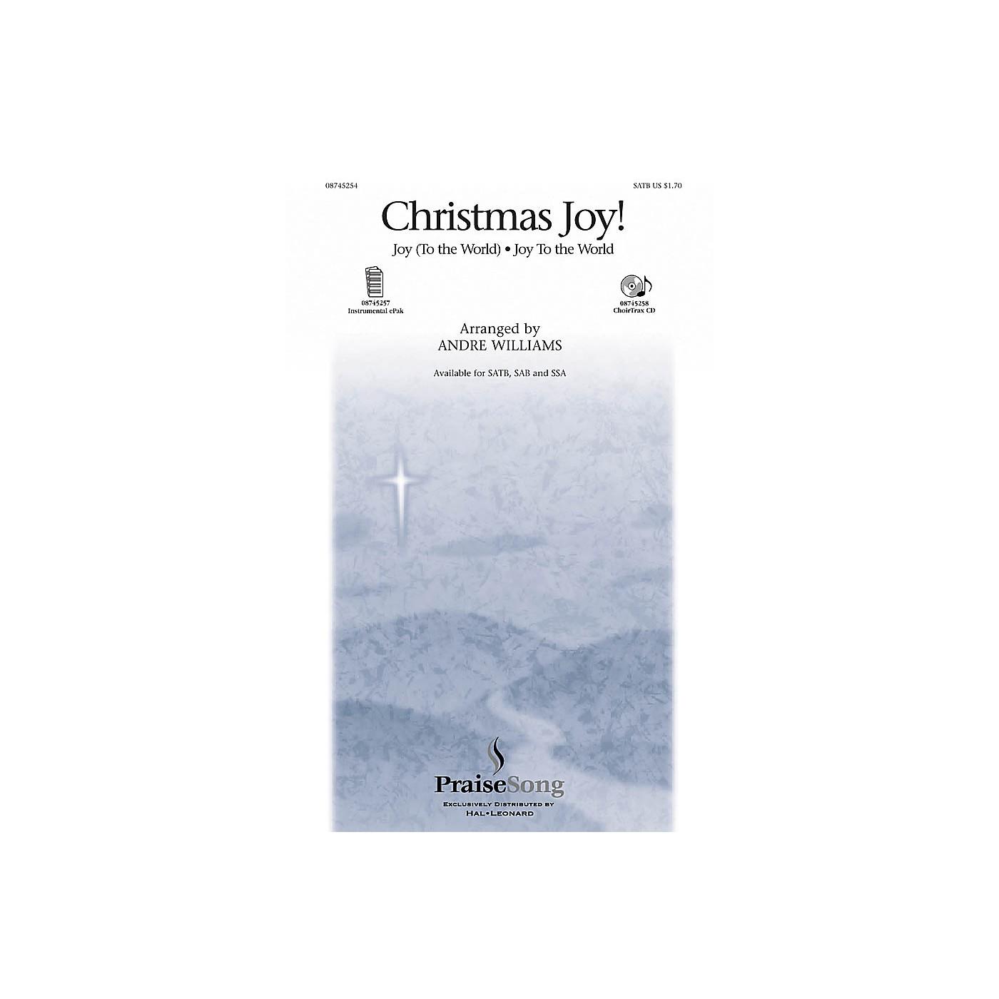 PraiseSong Christmas Joy! SATB arranged by Andre Williams thumbnail