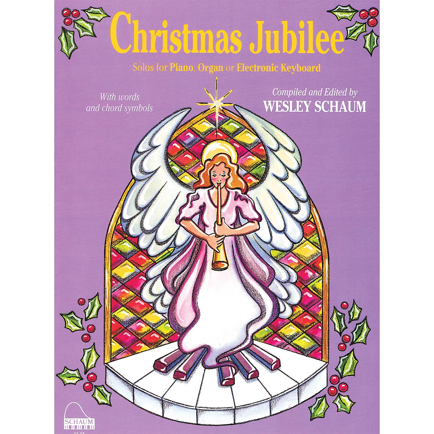 SCHAUM Christmas Jubilee (Level 3 Early Inter Level) Educational Piano Book thumbnail