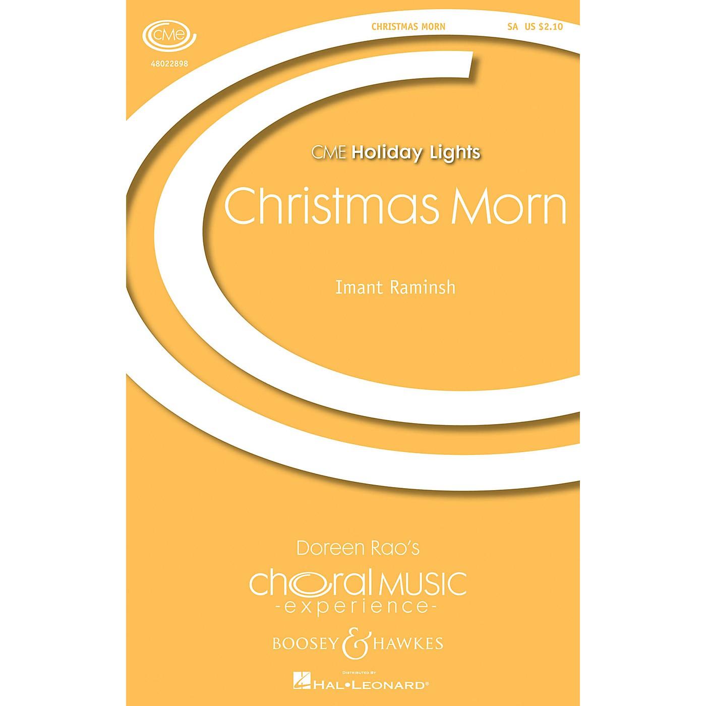 Boosey and Hawkes Christmas Morn (CME Holiday Lights) SA composed by Imant Raminsh thumbnail